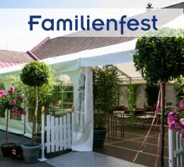 Alles aus einer Hand für Familienfeier im Garten von Zeltverleih Erding, Partyzelt, Catering, Zeltausstattung, Livemusik